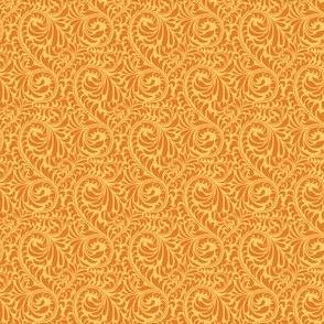 Leafy Swirl - 2in (dark orange)