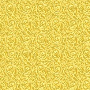 Leafy Swirl - 2in (dark yellow)
