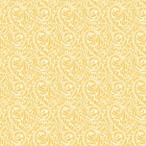 Leafy Swirl - 2in (light orange)