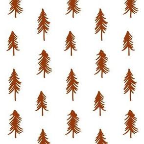 Pine Trees -  Orange/Rust