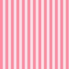 Stripes hot pink on pink.