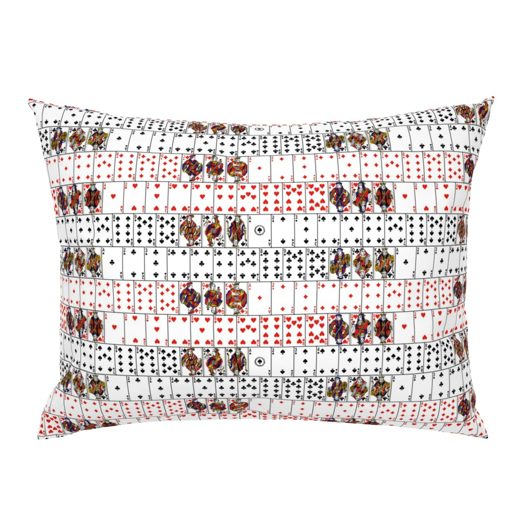 Campine Pillow Sham featuring Playing Cards by thinlinetextiles