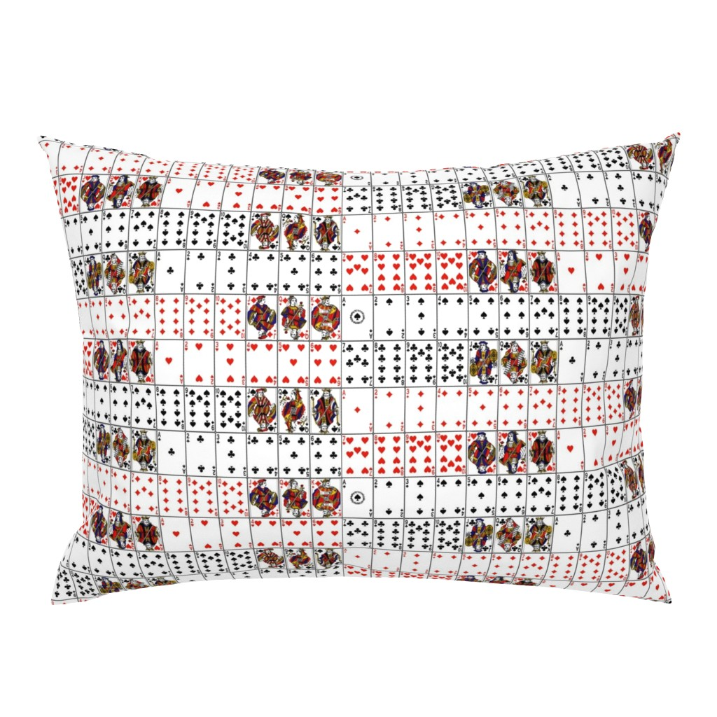Campine Pillow Sham featuring Playing Cards // Symmetrical by thinlinetextiles
