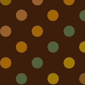 Earth tone polka dots