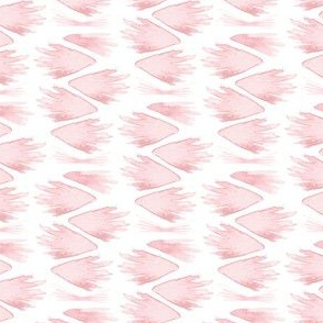 Pastel Pink Feathers || Spots drops stripe