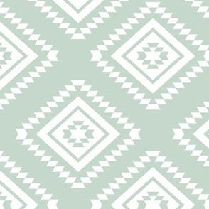 Aztec - White, Light Mint