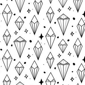 Black on White Diamond sparkler rockstar