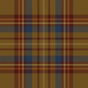 "Williams tartan, 6"" brown/navy"