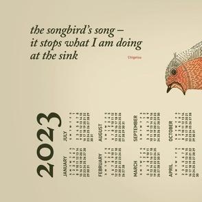 2020 Calendar, Sunday / Haiku Songbird