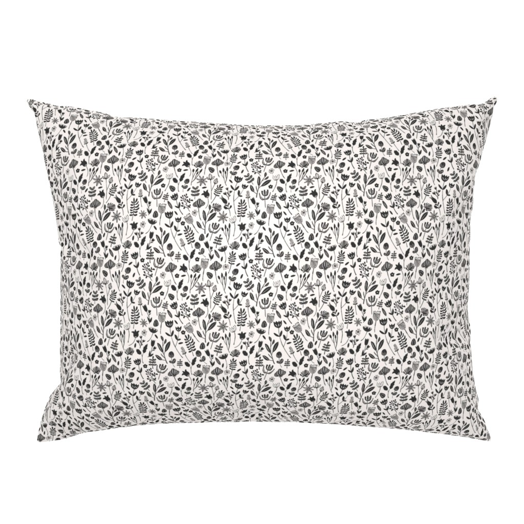 Campine Pillow Sham featuring Folk Botanical Print (Tiny) by shelbyallison