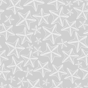 Starfish (Gray) - star marine nautical sea sealife ocean animal galaxy sky water sand vacation exotic