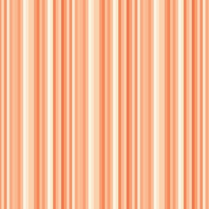 Terra Cotta Orange Peach Carrot Candy Stripe  Sienna Southwest_ Miss Chiff Designs