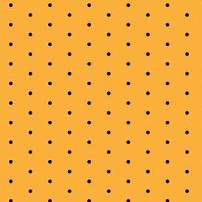 Halloween Black and Orange Polka Dot