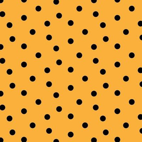 Halloween Black Polka Dot on Orange Cluster