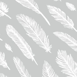 Feathers [Grey + White]