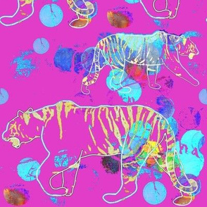 Stalking Tiger - Bright Pink
