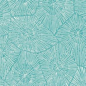jumbo petoskey-stone pattern, off-white on  light turquoise
