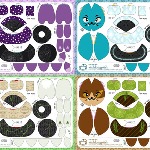 Cut & Sew Witch Kitty Plush Bundle Academia