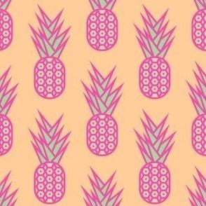 Pink Geometric Pineapple