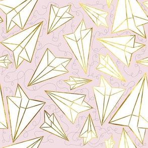 Paper Airplanes Gold Blush