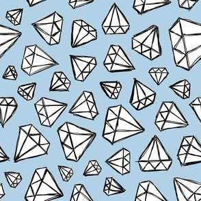 Rough Diamonds Powder Blue