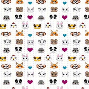 Baby Animal Faces Love! - © PinkSodaPop 4ComputerHeaven.com