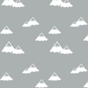 mountains - white on grey (northern lights collection)