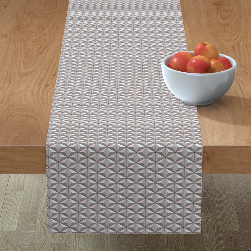 Minorca Table Runner featuring Geodesic Globe - Storm by ejrippy