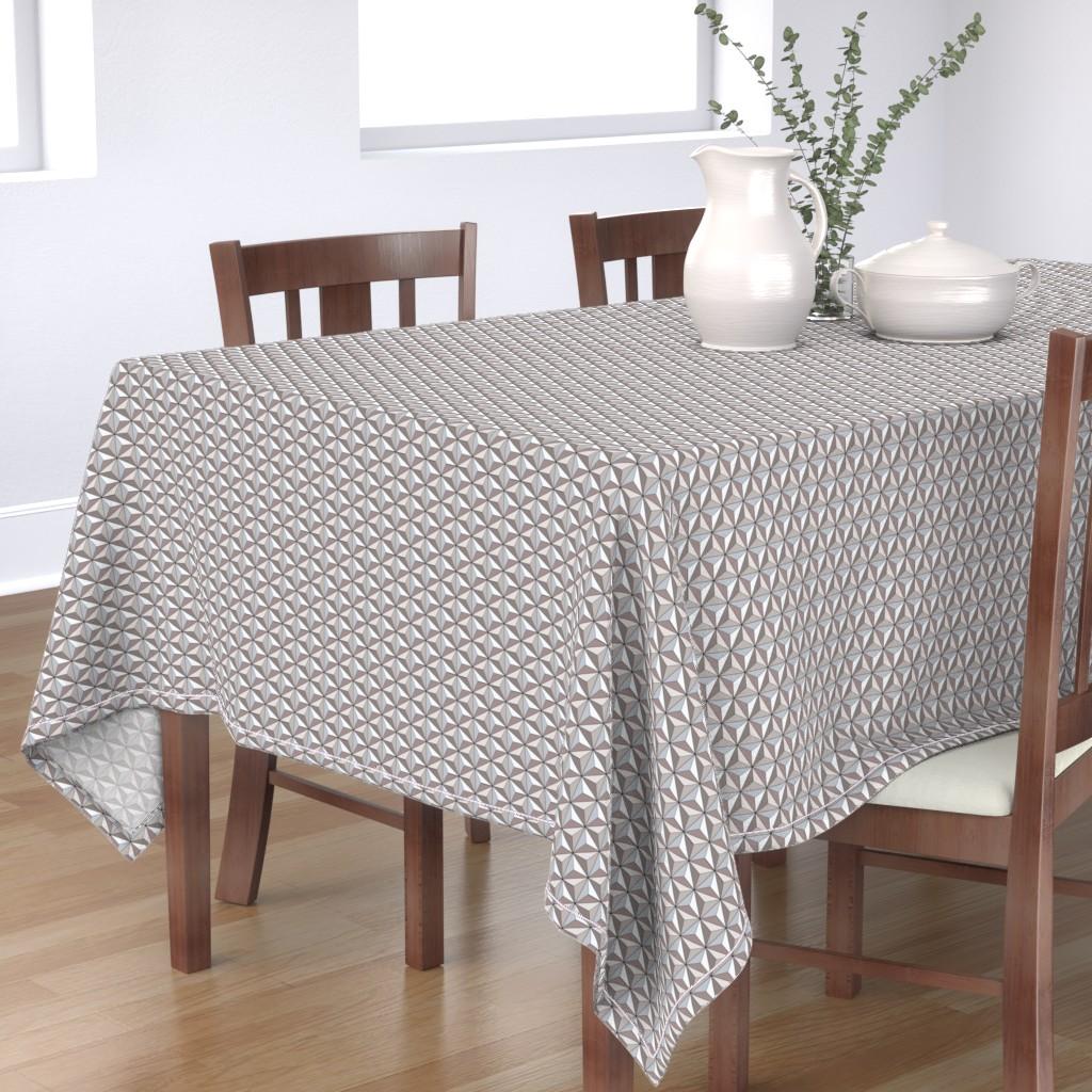 Bantam Rectangular Tablecloth featuring Geodesic Globe - Storm by ejrippy