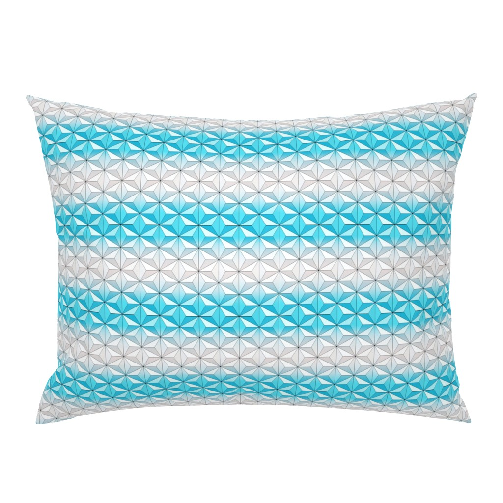 Campine Pillow Sham featuring Geodesic Globe - Sky by ejrippy