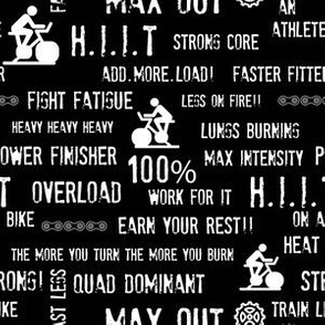 Indoor cycling - H.I.I.T Cycle words and motivations
