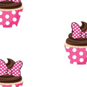 Pink Bow Cupcakes - large