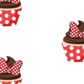 Red Bow Cupcakes - large