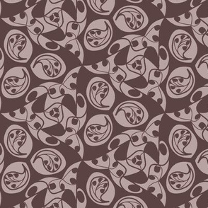 paisley in rose brown