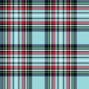 christmas knit tartan blue