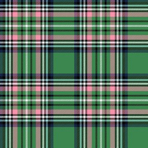 christmas knit tartan green