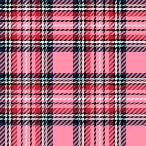 christmas knit tartan pink