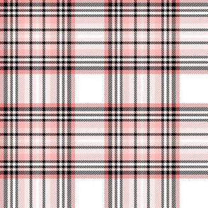 mod baby tartan coral on white