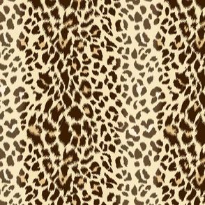 Realistic Wild Leopard Print