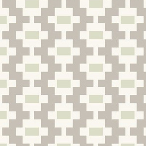 Aztec Ladder - Taupe, Pear, Ivory
