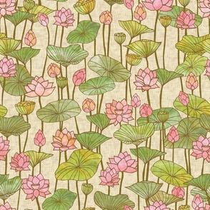 Lotus Flowers {Linen}