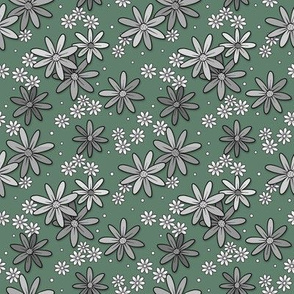Happy floral_Green