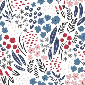 Kristin Nicole Floral Pink Red and Blue