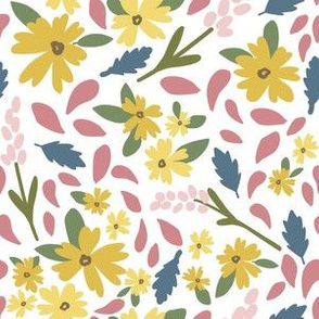 Kristin Nicole Yellow Pink Blue Floral