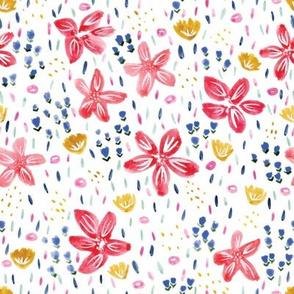 Kristin Nicole Floral Paintbrush Watercolor