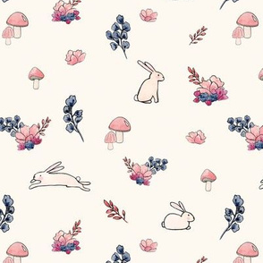Kristin Nicole Bunny Rabbit Floral
