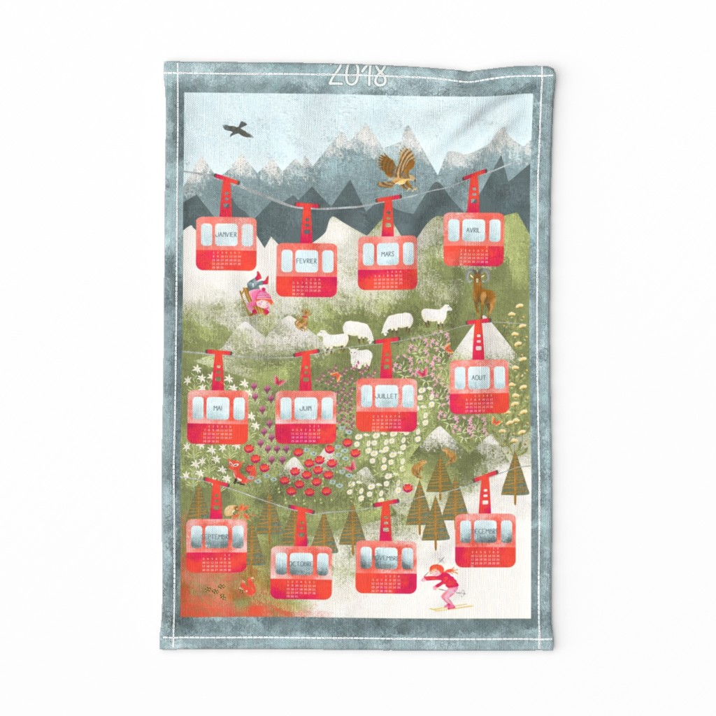 Special Edition Spoonflower Tea Towel featuring A_la_montagne by nadja_petremand