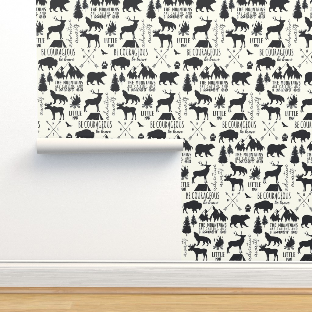 Isobar Durable Wallpaper featuring In the Wild Woodland by hipkiddesigns