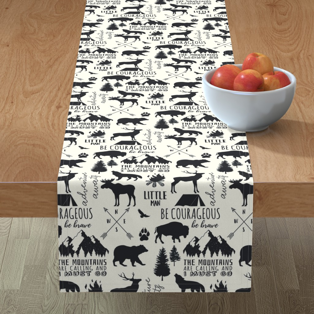 Minorca Table Runner featuring In the Wild Woodland by hipkiddesigns