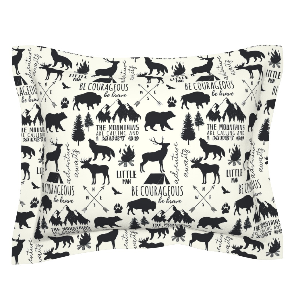 Sebright Pillow Sham featuring In the Wild Woodland by hipkiddesigns